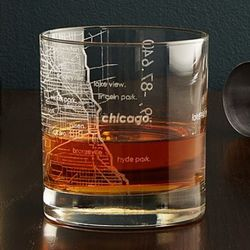 City Map Drinking Glass