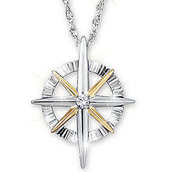 Daughter's Light of Faith Diamond Pendant Necklace