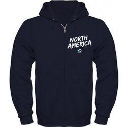 North America Logo Navy Blue Zip Hoodie