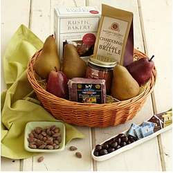 Best with Wine Gift Basket with Personalized Ribbon