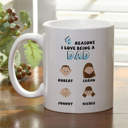 His Reasons Why Personalized Coffee Mug