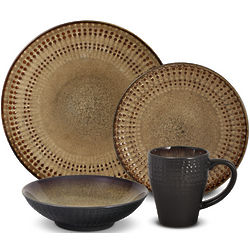 Earth Tone Shades Dinnerware Set