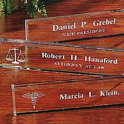 Personalized Medical Beveled Glass Nameplate