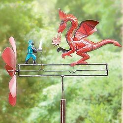 St. George the Dragonslayer Iron Whirligig