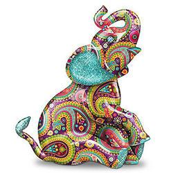 Paisley Elephant Figurine