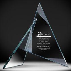 Personalized Teamwork Sculpture Glass Award