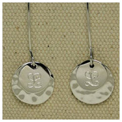 Monogrammed Sterling Silver Earrings