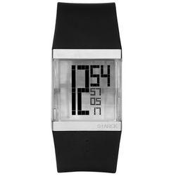 Crystal Clear Digi Watch in Black