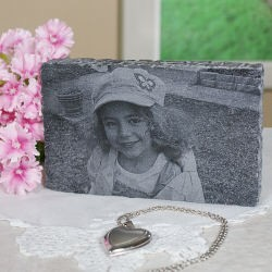 Engraved Photo Marble Keepsake