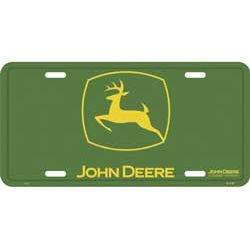 John Deere 2000 Logo Metal License Plate