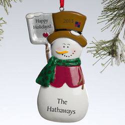 Let It Snow Personalized Snowman Ornament