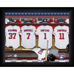 Personalized Washington Nationals MLB Locker Room Print