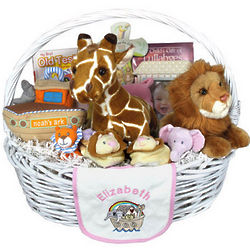 Deluxe Personalized Noah's Ark Baby Gift Basket