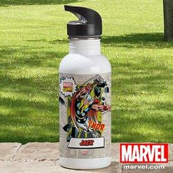 Personalized Marvel Comics Water Bottle