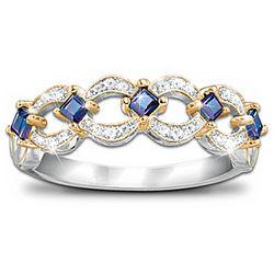 Enchantment Tanzanite and Diamond Eternity Ring
