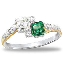 Jacqueline Kennedy-Inspired Diamonesk Ring