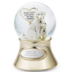 Make-A-Wish Paw Prints Snow Globe