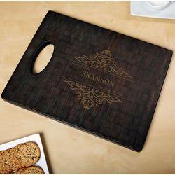 Black Bamboo Family Home Custom Cutting Board