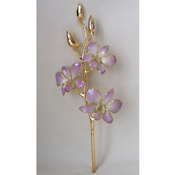 24K Gold Dipped Lilac Dendrobium Orchid