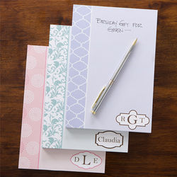 Trendy Signature Personalized Notepad