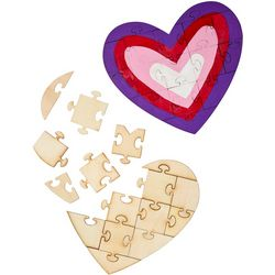 Wooden Heart Puzzles