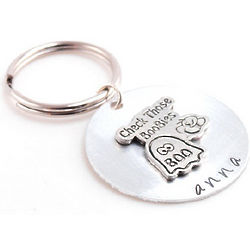 Check Those Boobies Hand Stamped Key Chain