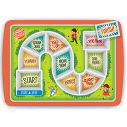 Kid's Eating Game Dinner Plate