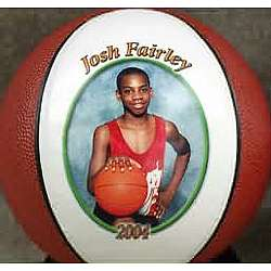 Personalized Mini Photo Basketball Trophy