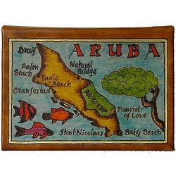 Aruba Map Leather Photo Album in Color