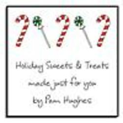 Personalized Candyland Holiday Stickers