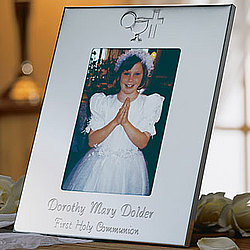 First Communion Silver Frame