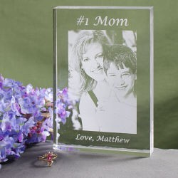 Engraved Photo Keepsake for Mom