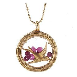 Gold Bird Locket