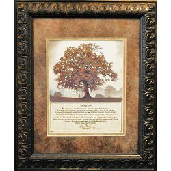 Living Life Framed Tree Print With Message Findgift Com