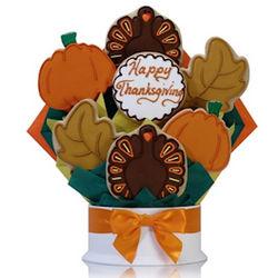 Happy Thanksgiving Cookie Bouquet Arrangement