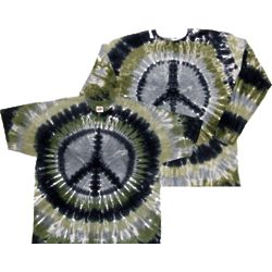 Metal Peace Sign Tie Dye T-Shirt