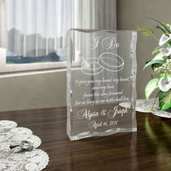 Personalized I Do Plaque