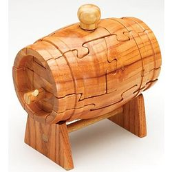 Wooden Beer Keg 3D Jigsaw Puzzle