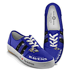 NFL Baltimore Ravens Canvas Women's Sneakers