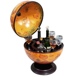 Turin Tabletop Italian Replica Globe Bar