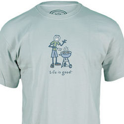 Misty Blue Jake BBQ Crusher Tee