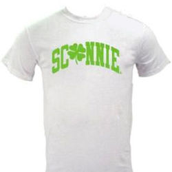 Sconnie Clover White Adult Tee