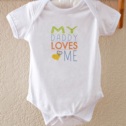 Somebody Loves Me Personalized Baby Bodysuit