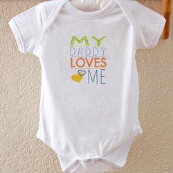 Somebody Loves Me Personalized Baby Bodysuit