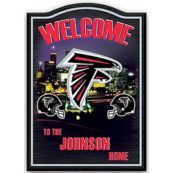 Personalized Atlanta Falcons Welcome Sign