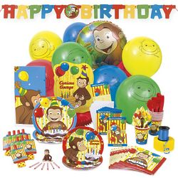 Curious George Deluxe Party Kit