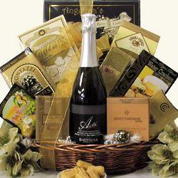 Bartenura Kosher Sparkling Wine Gift Basket