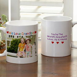 Loving You Personalized Photo Message Coffee Mug
