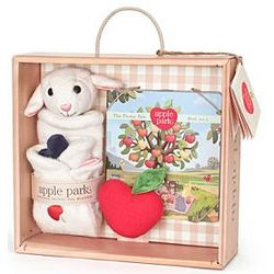 Animal Blankie, Book & Rattle Gift Crate