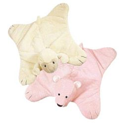 Bear or Lamb Comfy Cozy Baby Blanket and Stuffed Animal